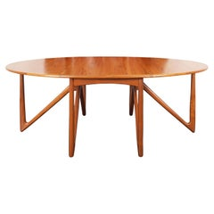 "Danish Teak ""Gateleg"" Drop-Leaf Dining Table by Kurt Østervig"