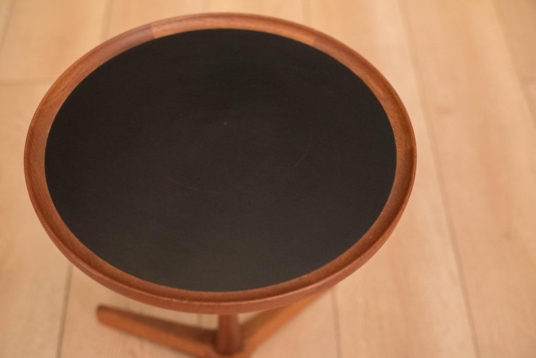 Danish Teak Hans Andersen Round Side Table In Good Condition For Sale In San Jose, CA