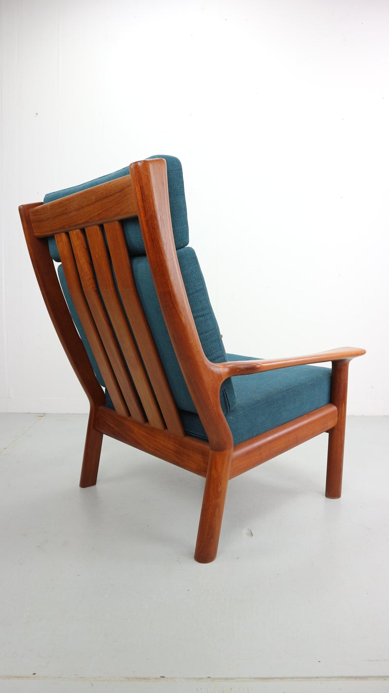 Danish Teak High Back Lounge Chair By Juul Kristensen For