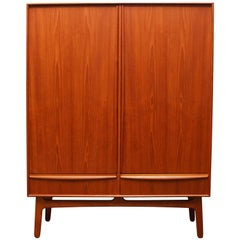 Danish Teak Highboard / Cabinet by Svend Aage Madsen for K. Knudsen & Son 1950s