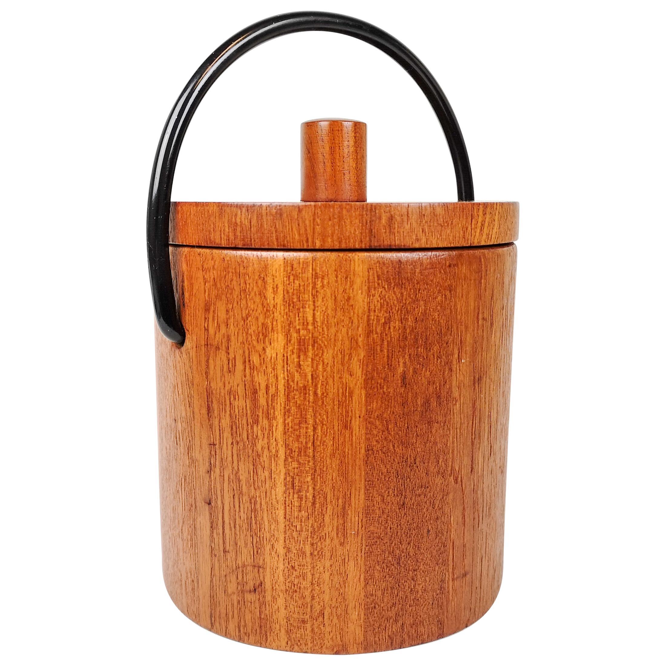Danish Teak Ice Bucket by Flemming Digsmed for Nissen, 1960s