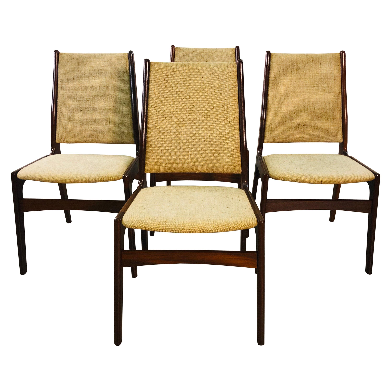 Danish Teak Johannes Anderson Dining Room Chairs, Set of 4
