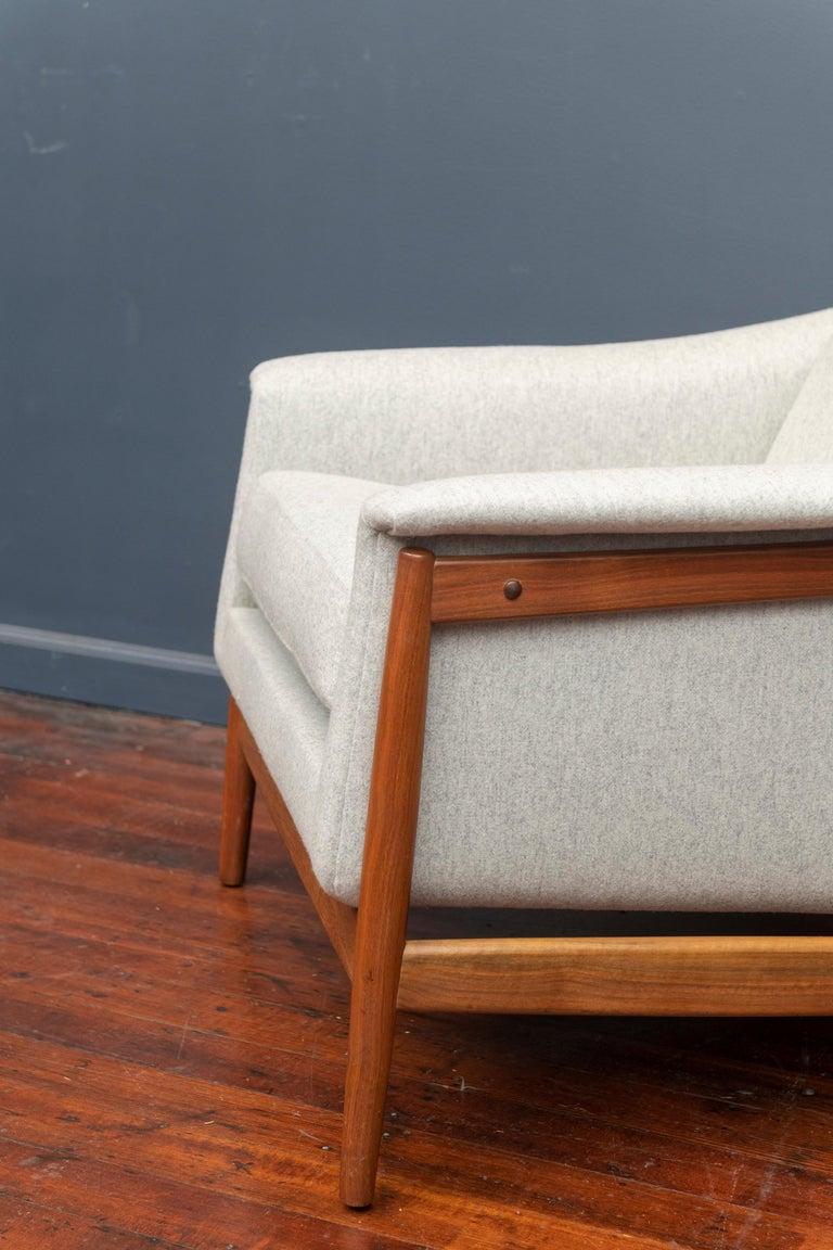 Scandinavian Modern Danish Teak Lounge Chairs by Folks Ohlsson For Sale