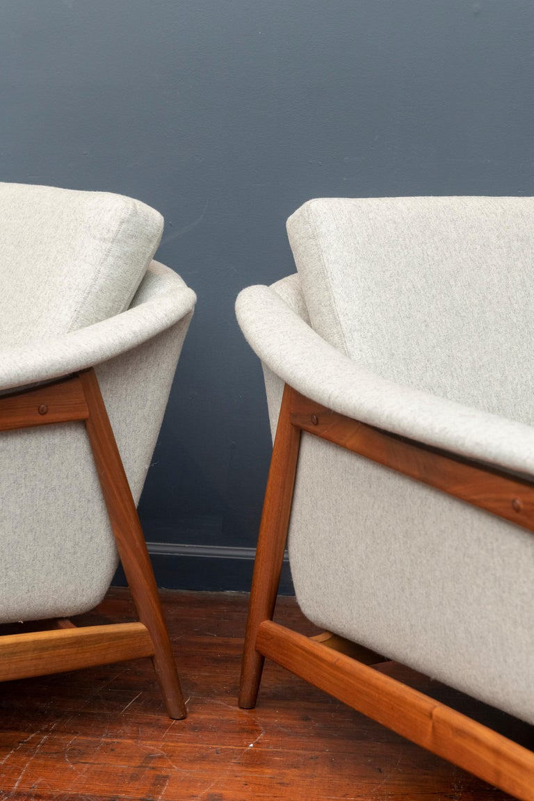Danish Teak Lounge Chairs by Folks Ohlsson In Good Condition For Sale In San Francisco, CA