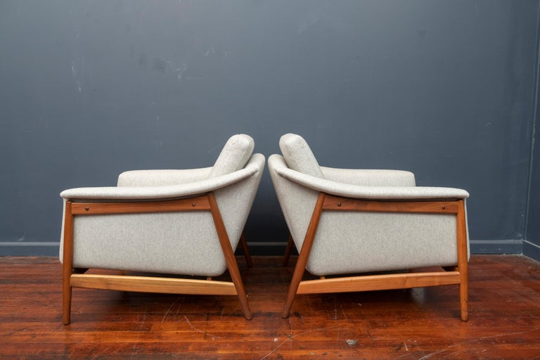 Mid-20th Century Danish Teak Lounge Chairs by Folks Ohlsson For Sale