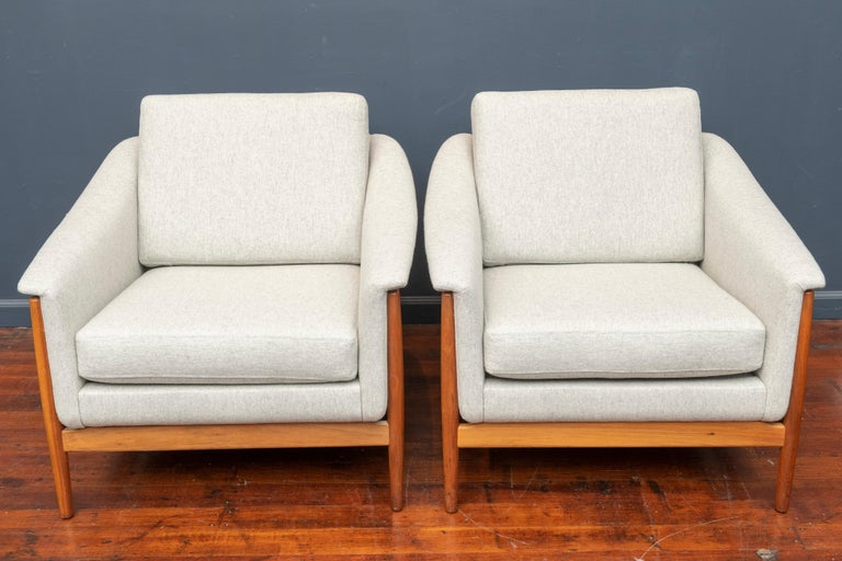 Danish Teak Lounge Chairs by Folks Ohlsson For Sale 3