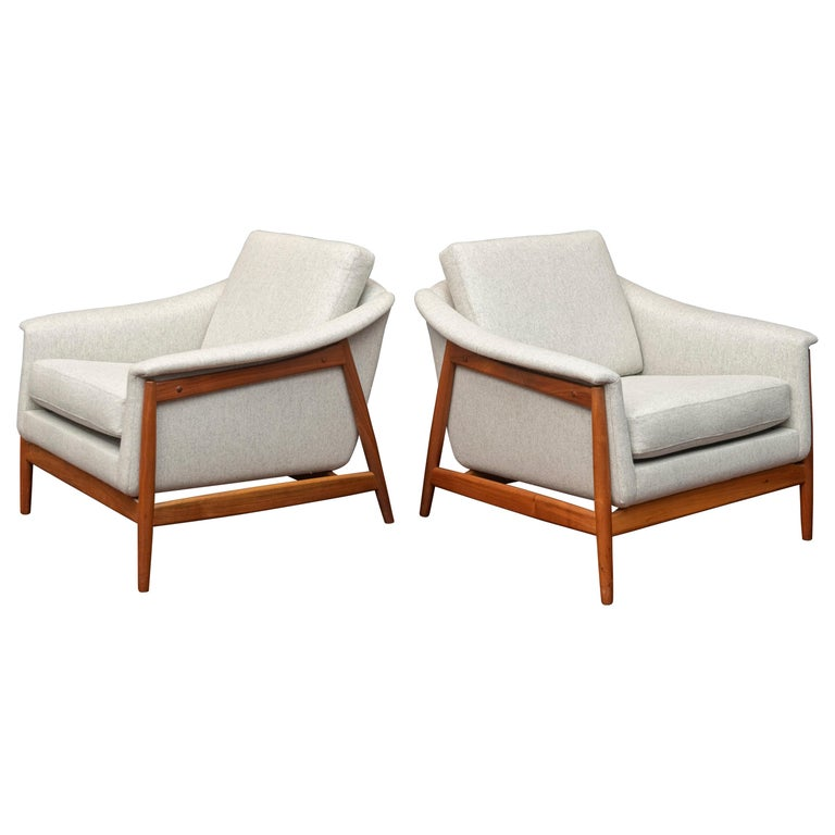 Danish Teak Lounge Chairs by Folks Ohlsson For Sale