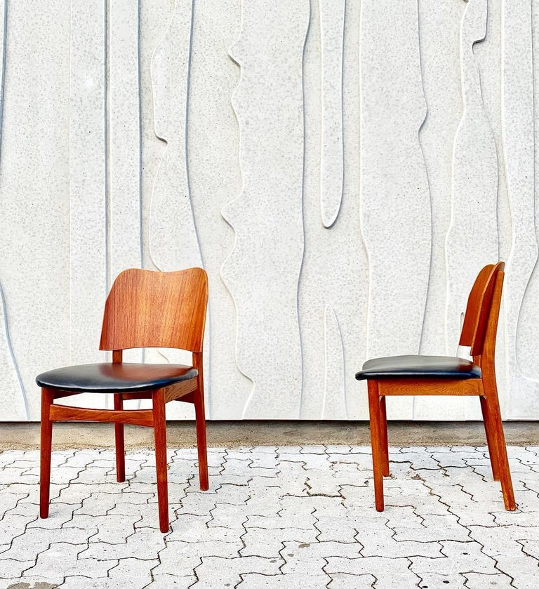 Danish Teak Midcentury Dining Chairs from Bramin, Set of 4 10