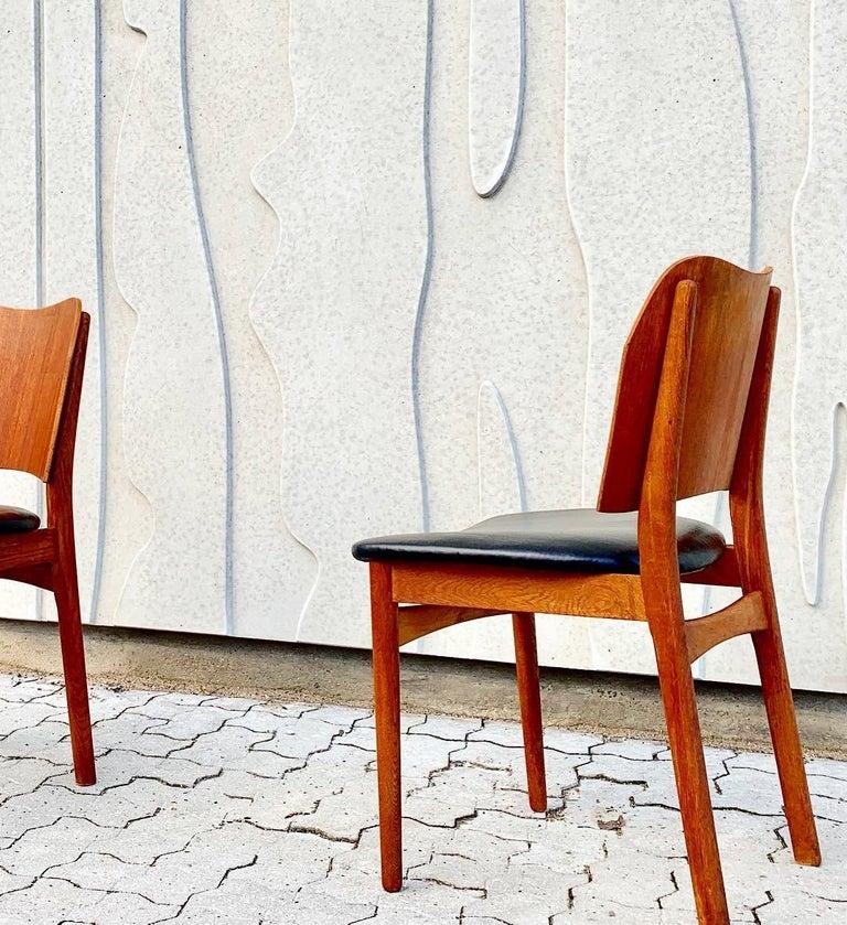 Danish Teak Midcentury Dining Chairs from Bramin, Set of 4 11