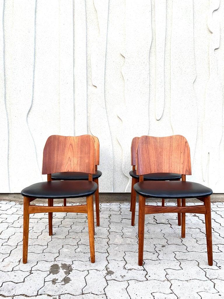 Danish Teak Midcentury Dining Chairs from Bramin, Set of 4 2