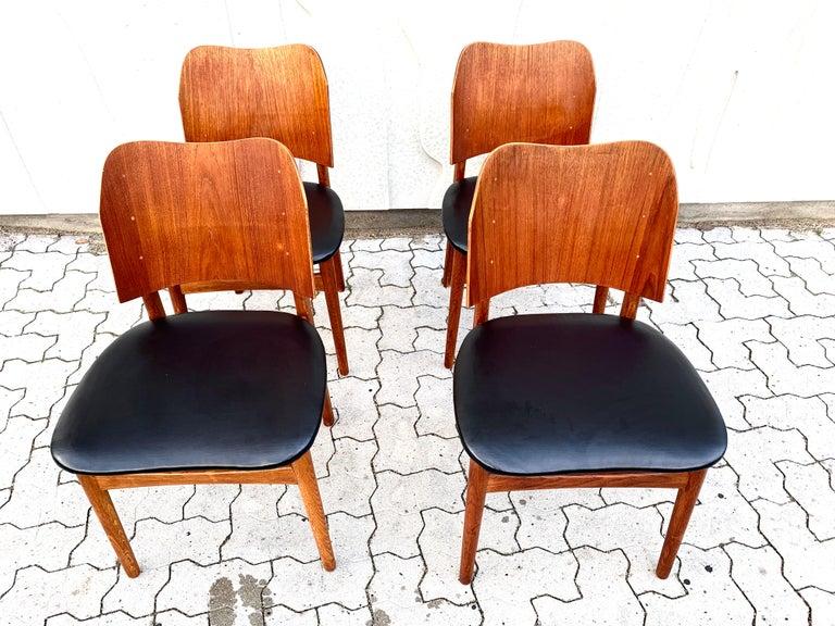 Danish Teak Midcentury Dining Chairs from Bramin, Set of 4 3