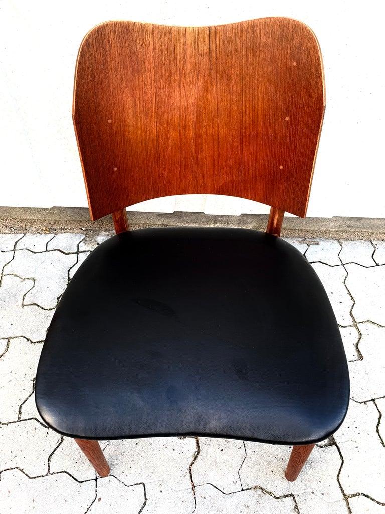 Danish Teak Midcentury Dining Chairs from Bramin, Set of 4 4