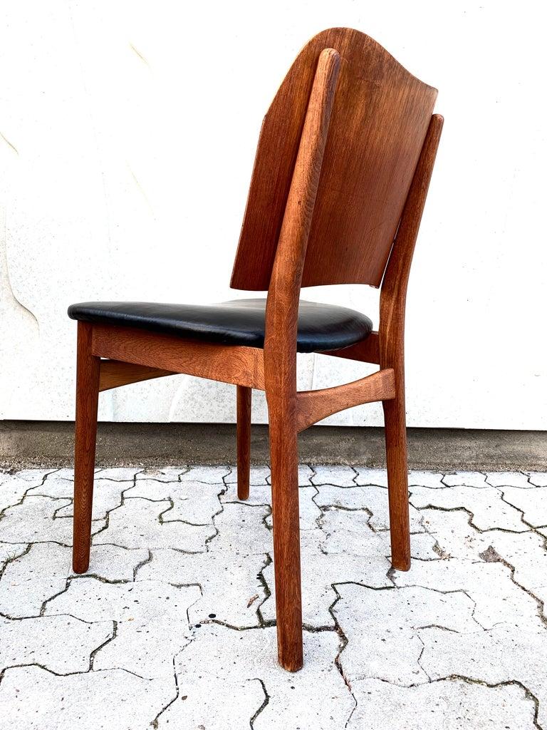 Danish Teak Midcentury Dining Chairs from Bramin, Set of 4 7
