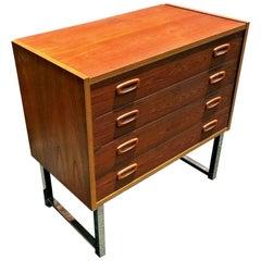 Danish Teak Mid-Century Modern Micro Credenza Dresser 1970s Peter Sorensen