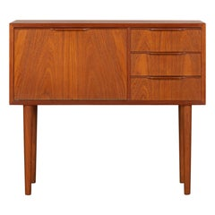 Danish Teak Mid-Century Modern Small Chest with Drawers, 1960s