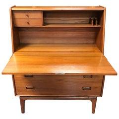 Danish Teak Midcentury Writing Bureau Desk by Arne Hovmand Olsen for Mogens Kold