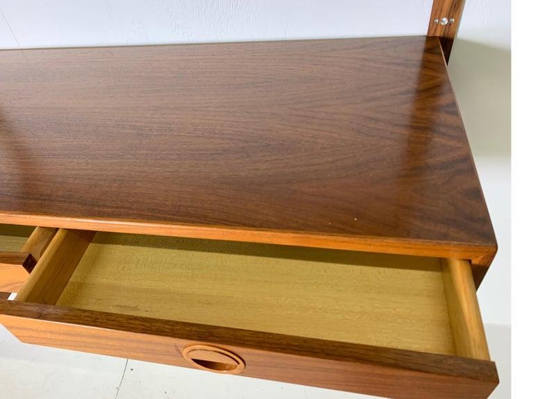 Danish Teak Modular Wall Unit by Thygesen and Sorensen for HG Furniture For Sale 8