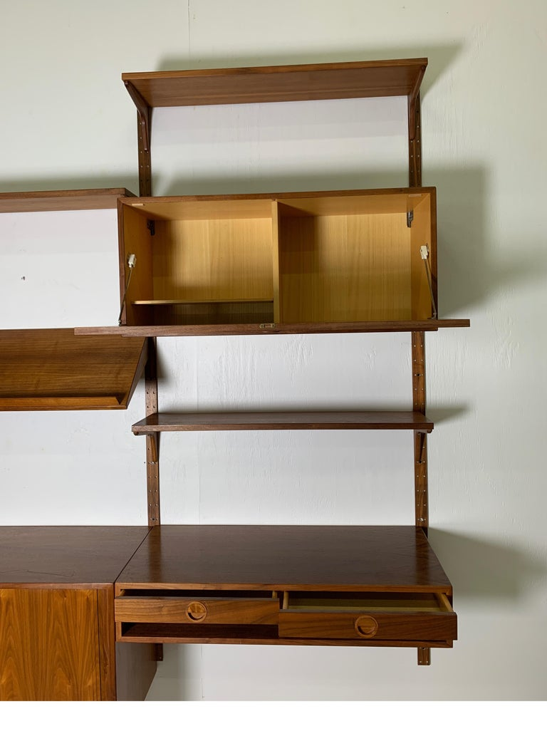 Danish Teak Modular Wall Unit by Thygesen and Sorensen for HG Furniture For Sale 9