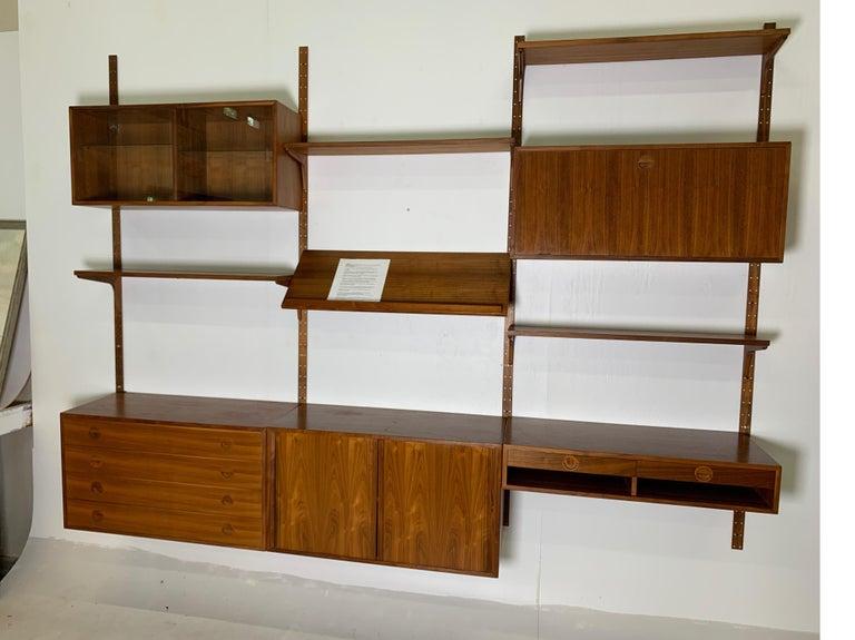 Danish Teak Modular Wall Unit by Thygesen and Sorensen for HG Furniture For Sale 11