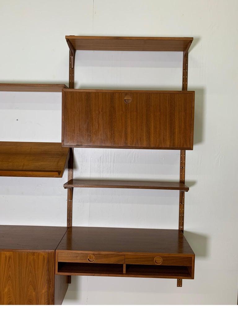 Scandinavian Modern Danish Teak Modular Wall Unit by Thygesen and Sorensen for HG Furniture For Sale