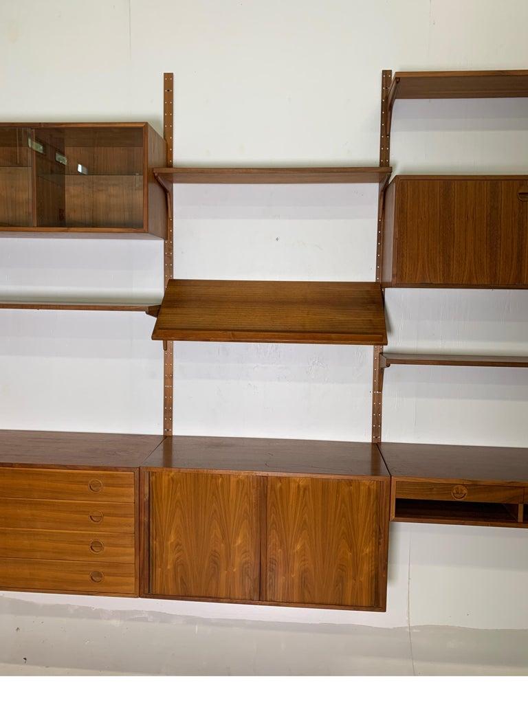 Danish Teak Modular Wall Unit by Thygesen and Sorensen for HG Furniture In Good Condition For Sale In Lambertville, NJ