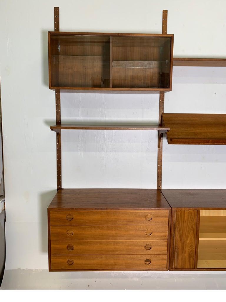 Mid-20th Century Danish Teak Modular Wall Unit by Thygesen and Sorensen for HG Furniture For Sale