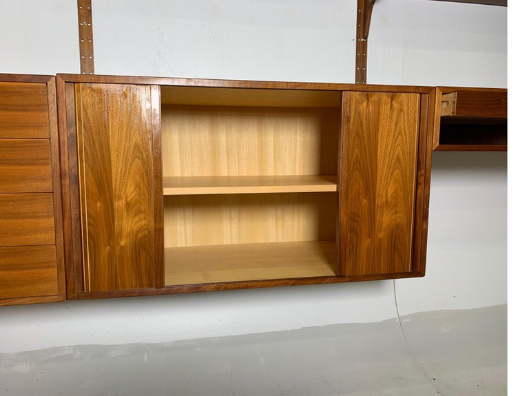 Steel Danish Teak Modular Wall Unit by Thygesen and Sorensen for HG Furniture For Sale