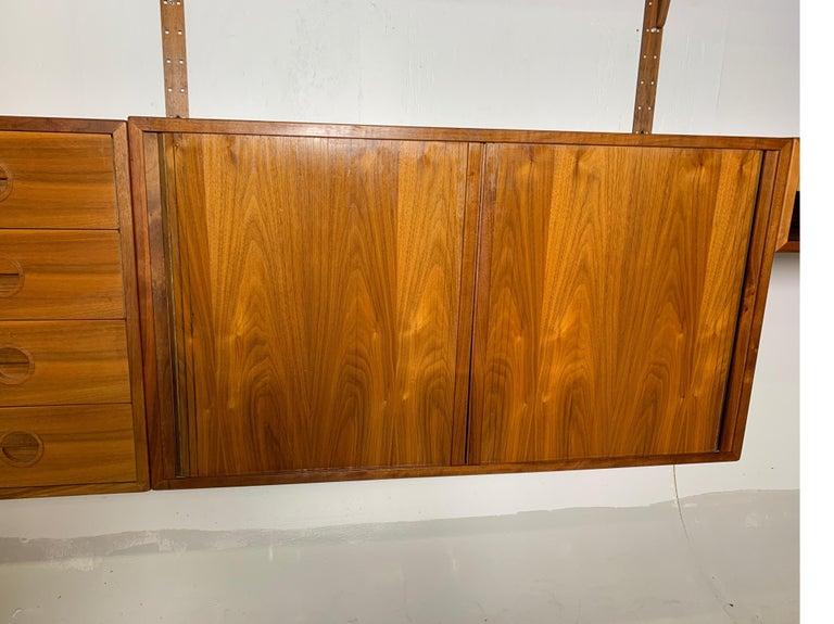 Danish Teak Modular Wall Unit by Thygesen and Sorensen for HG Furniture For Sale 1