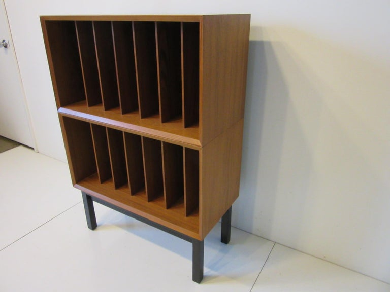 Mid-Century Modern Danish Teak Record Cabinet / Case in the Style of Arne Vodder, Cadovius For Sale
