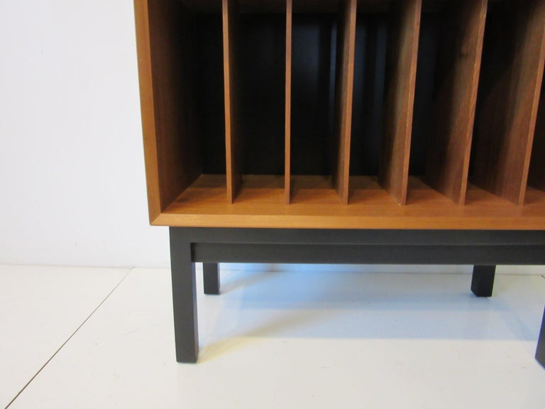 20th Century Danish Teak Record Cabinet / Case in the Style of Arne Vodder, Cadovius For Sale