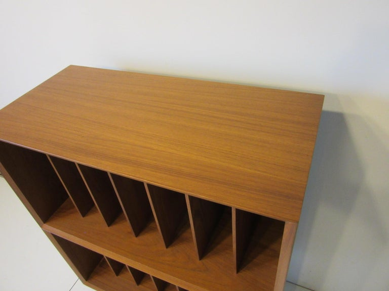 Danish Teak Record Cabinet / Case in the Style of Arne Vodder, Cadovius For Sale 1
