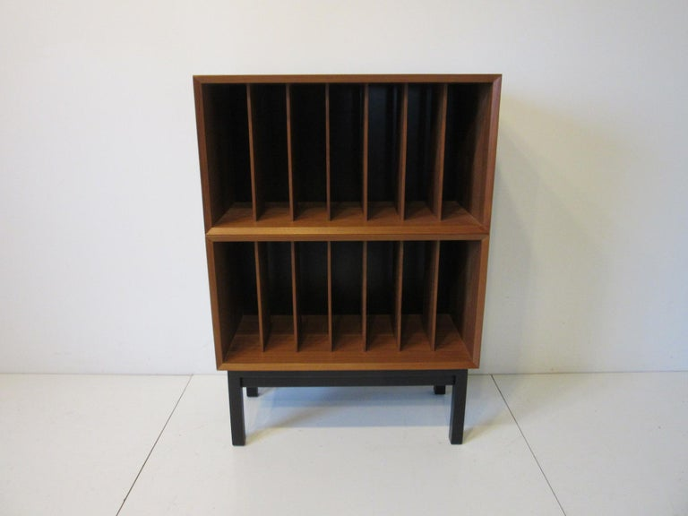 Danish Teak Record Cabinet / Case in the Style of Arne Vodder, Cadovius For Sale 3