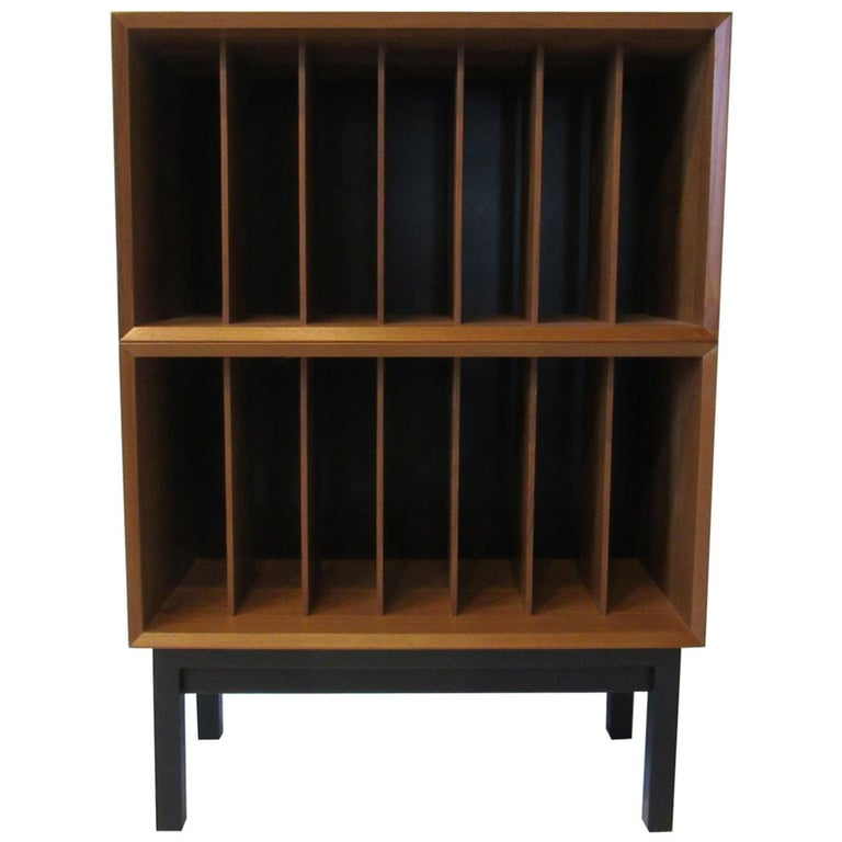 Danish Teak Record Cabinet / Case in the Style of Arne Vodder, Cadovius For Sale