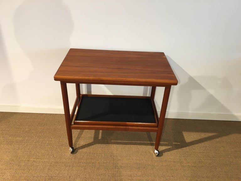 Danish Teak Roll/Serving/ Tray Table by Grethe Jalk 5