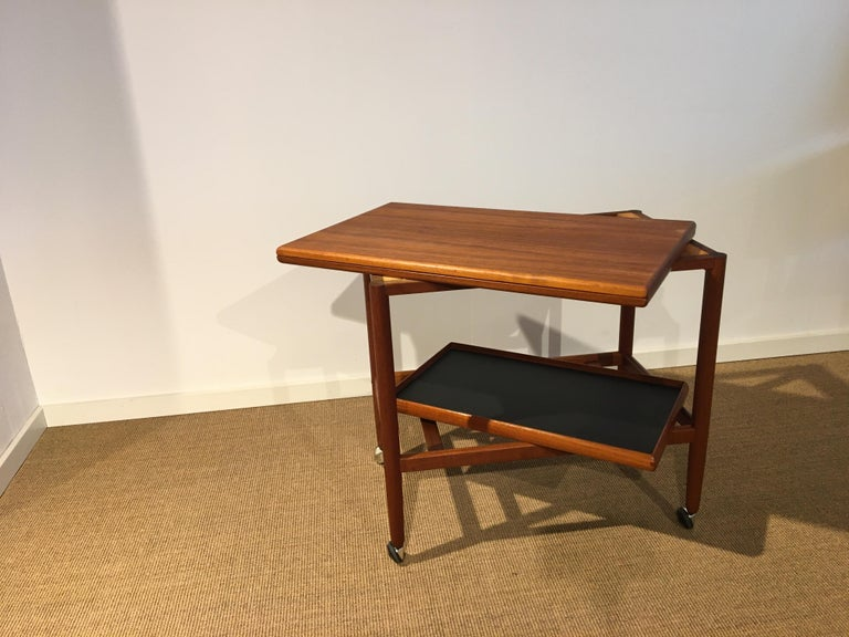 Danish Teak Roll/Serving/ Tray Table by Grethe Jalk 6