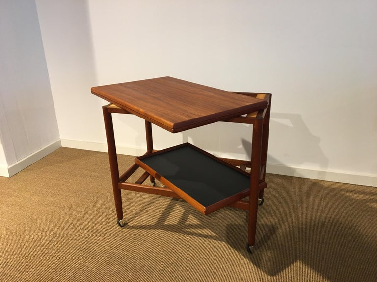 Danish Teak Roll/Serving/ Tray Table by Grethe Jalk 7