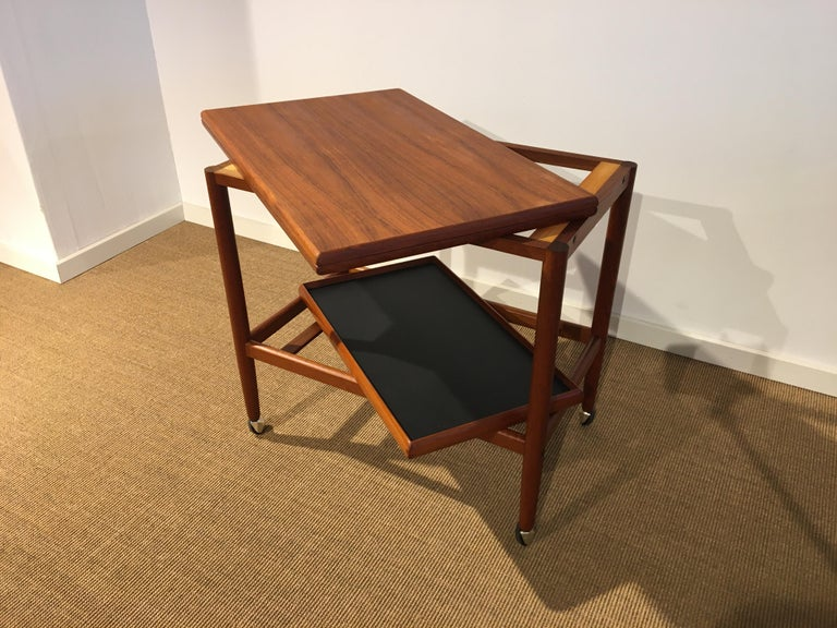 Danish Teak Roll/Serving/ Tray Table by Grethe Jalk 8