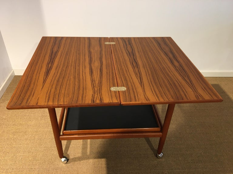 Mid-20th Century Danish Teak Roll/Serving/ Tray Table by Grethe Jalk
