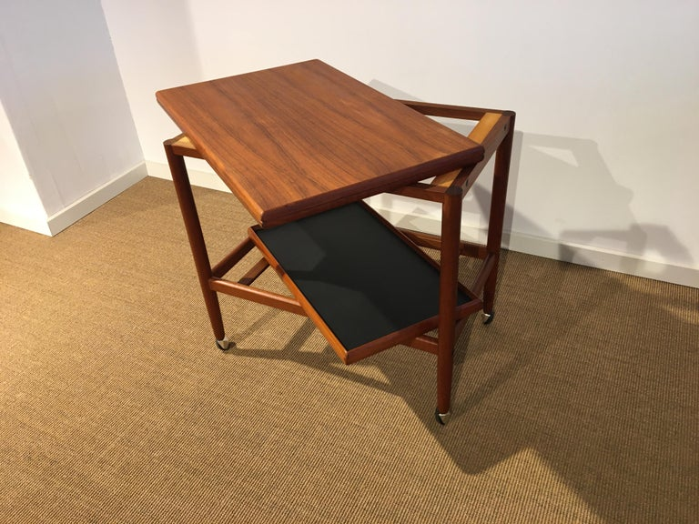 Danish Teak Roll/Serving/ Tray Table by Grethe Jalk 3