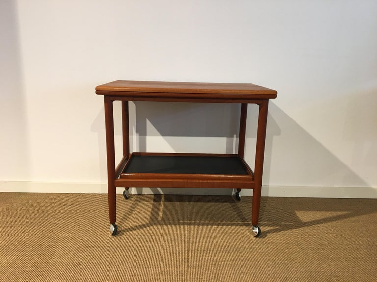 Danish Teak Roll/Serving/ Tray Table by Grethe Jalk 4
