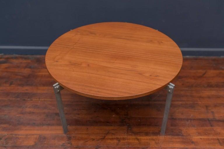 Mid-20th Century Danish Teak Round Coffee Table For Sale