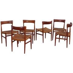 Danish Teak Sculptural Dining Chairs
