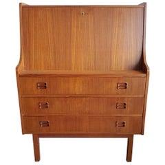 Danish Teak Secretary, 1960s, Danish Midcentury Design, Scandinavian Design