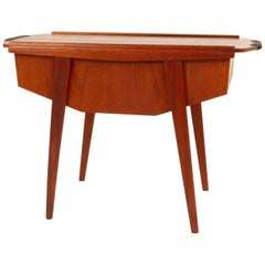 Danish Teak Sewing Table, 1950s