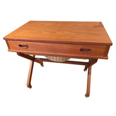 Danish Teak Sewing Table