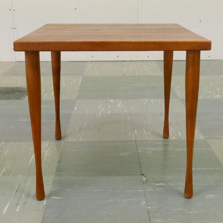 Danish teak side table by Hans C Andersen, 1950s.