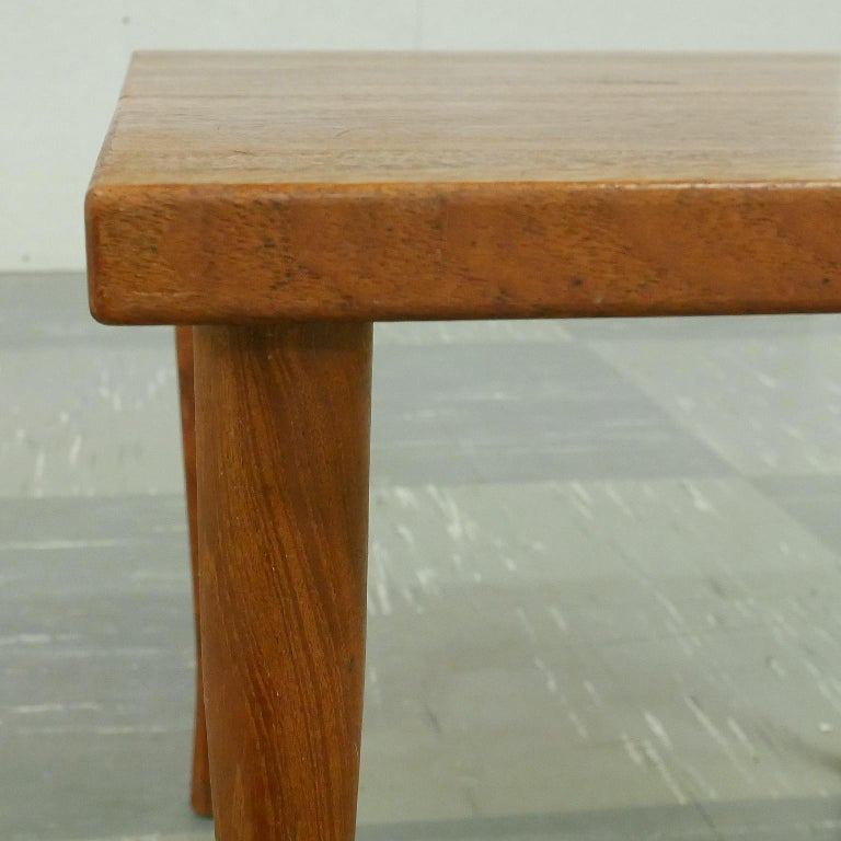 Danish Teak Side Table by Hans C Andersen, 1950s In Good Condition For Sale In Borås, SE