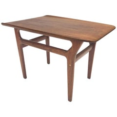 Danish Teak Side Table in the Style of Poul Jensen