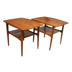 Danish Teak Side Tables by Tove & Edvard Kindt-Larsen for France & Sons