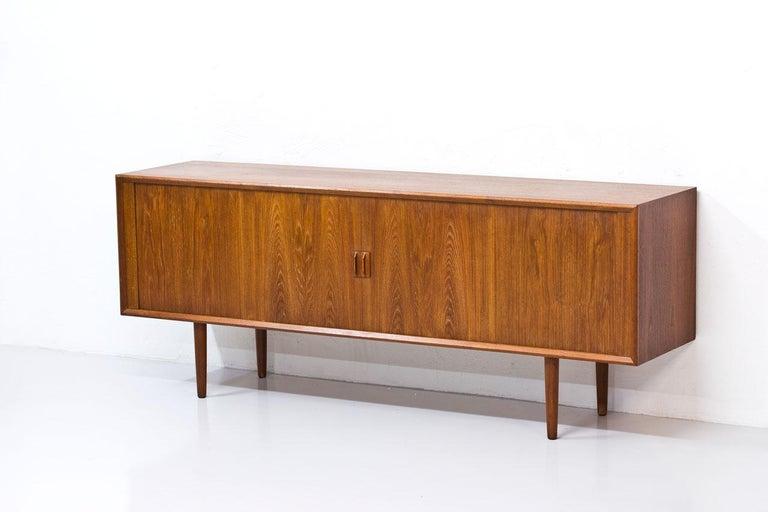 Scandinavian Modern Danish Teak Sideboard by Svend Aage Larsen for Faarup Mobelfabrik, 1960s